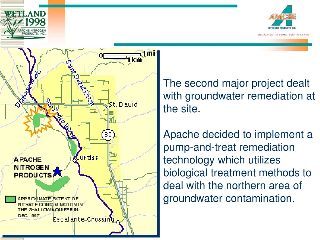 The second major project dealt with groundwater remediation at the site.