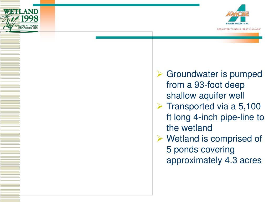 Groundwater is pumped from a 93-foot deep shallow aquifer well