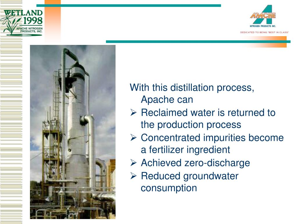 With this distillation process, Apache can