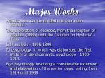 major works
