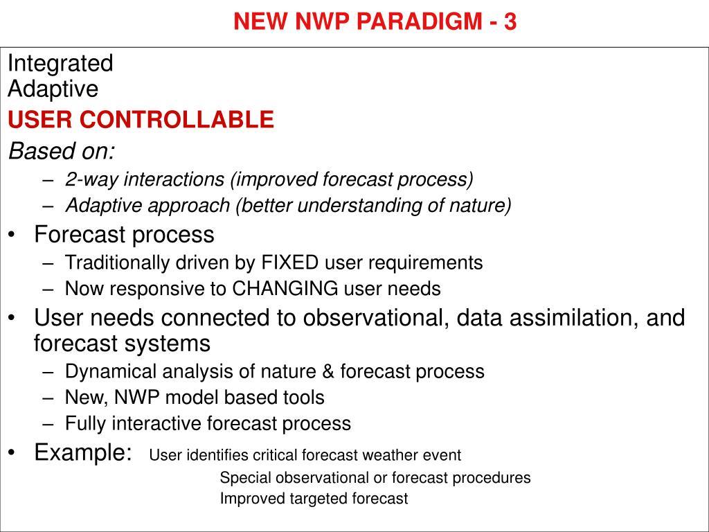 NEW NWP PARADIGM - 3
