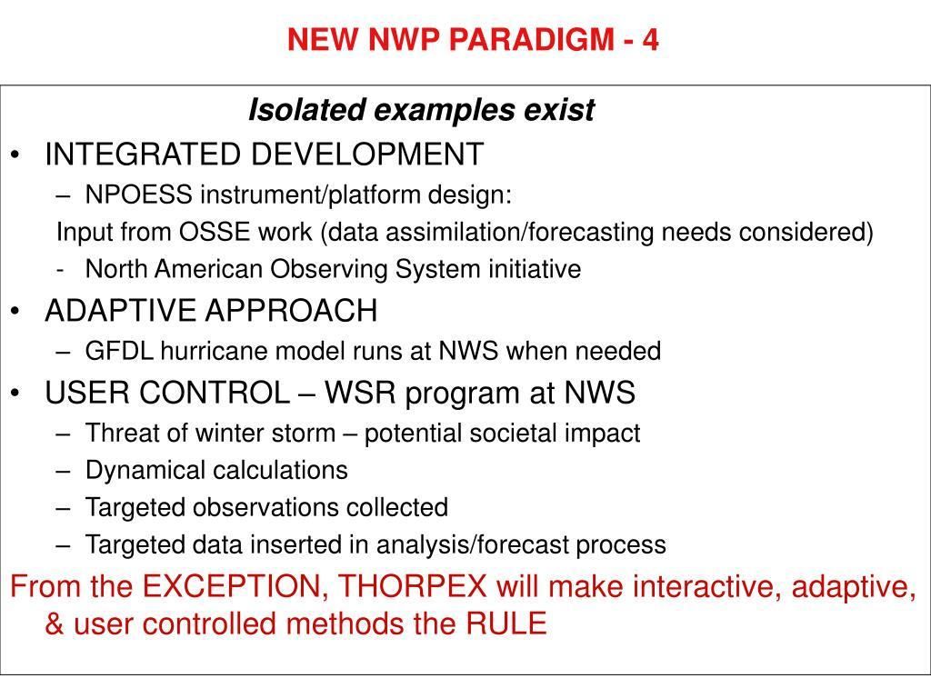 NEW NWP PARADIGM - 4