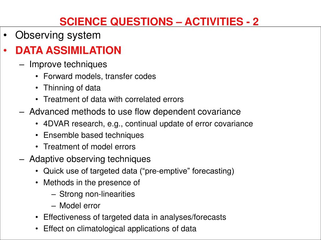 SCIENCE QUESTIONS – ACTIVITIES - 2