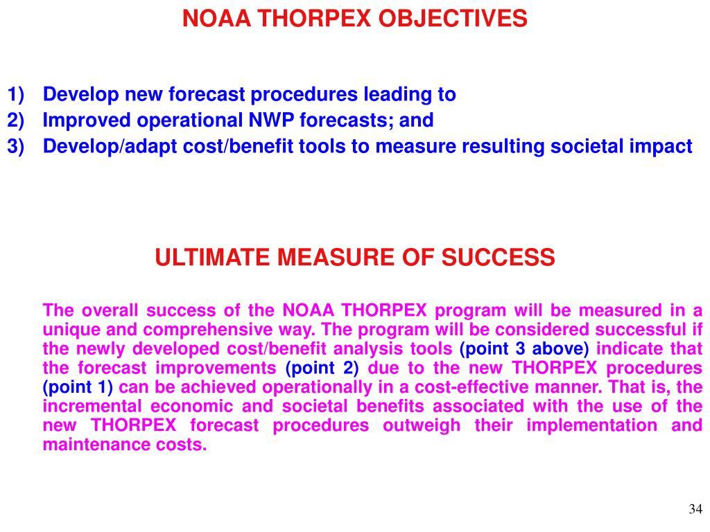 NOAA THORPEX OBJECTIVES
