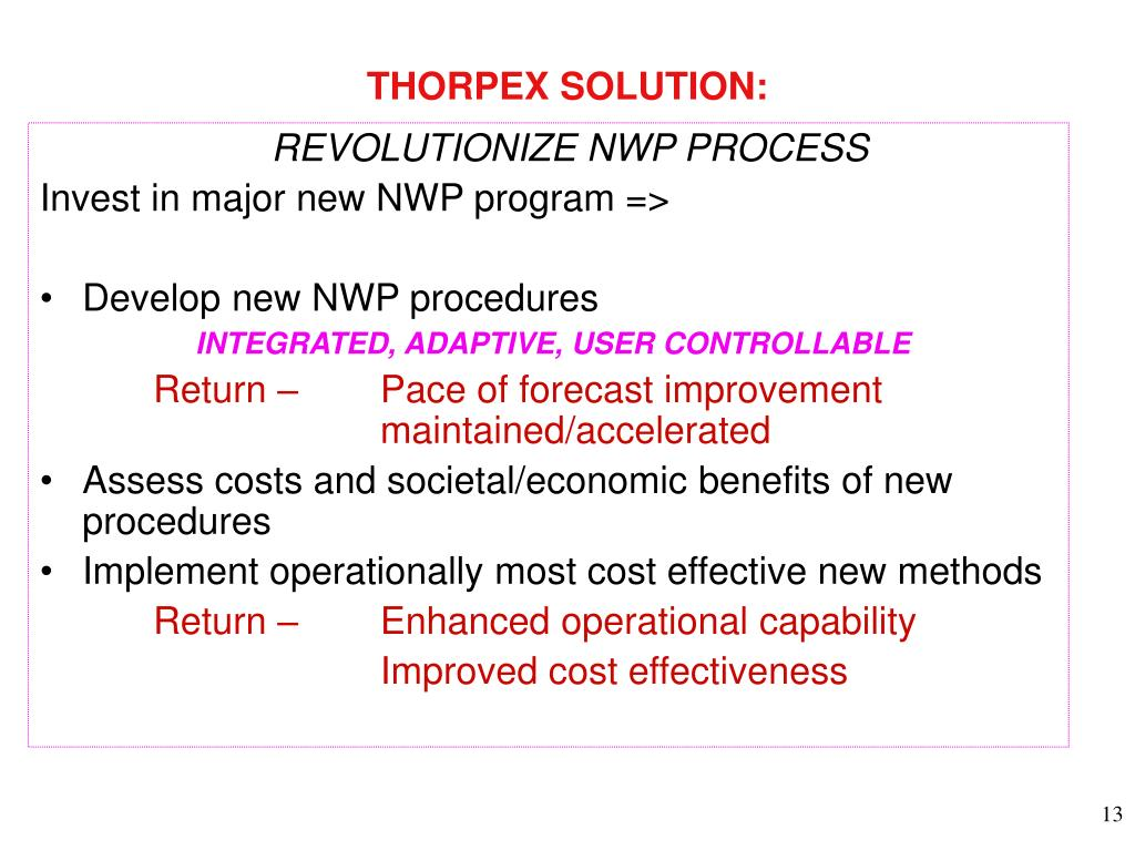 THORPEX SOLUTION: