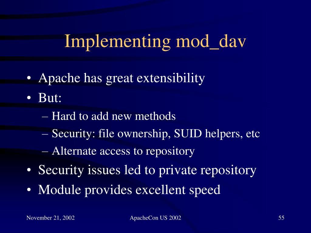 Implementing mod_dav