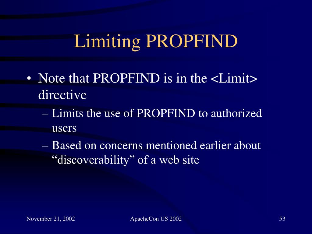 Limiting PROPFIND