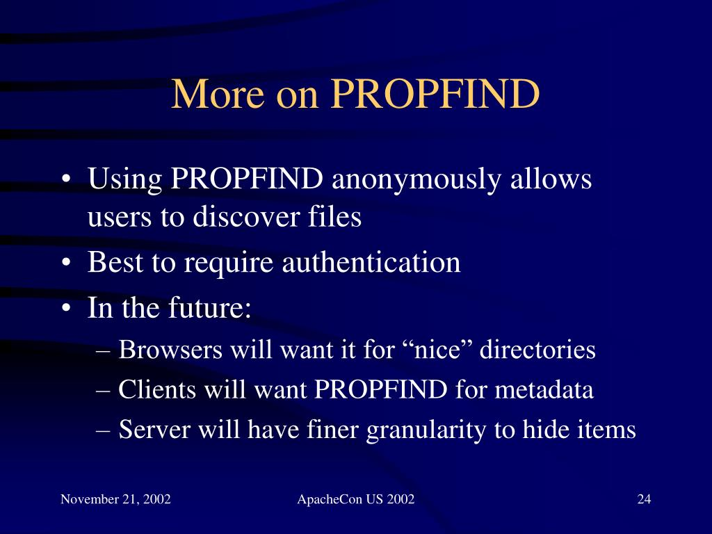 More on PROPFIND
