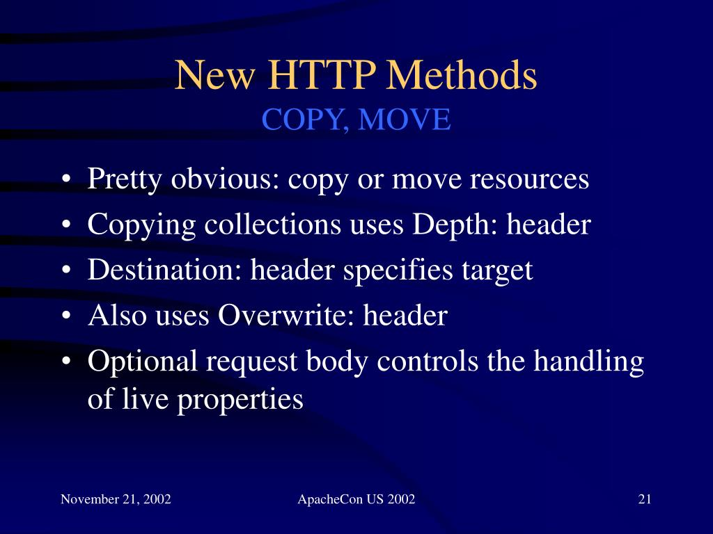 New HTTP Methods