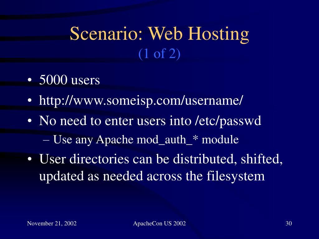 Scenario: Web Hosting