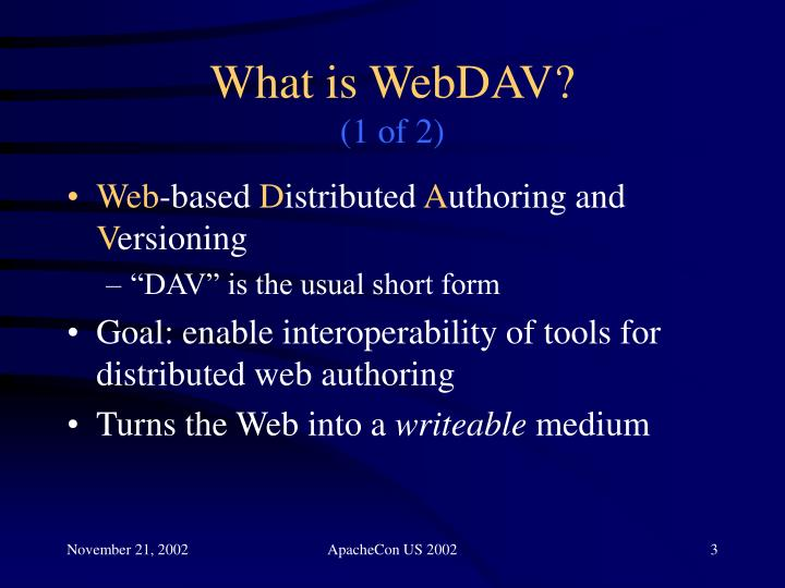 What is webdav 1 of 2
