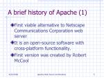 a brief history of apache 1