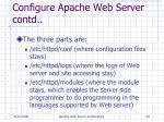 configure apache web server contd