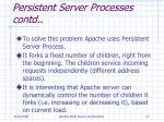 persistent server processes contd