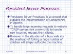 persistent server processes