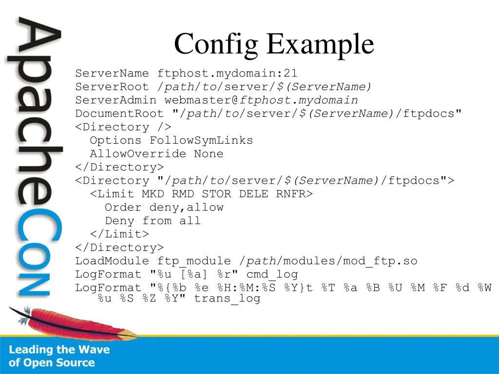 Config Example