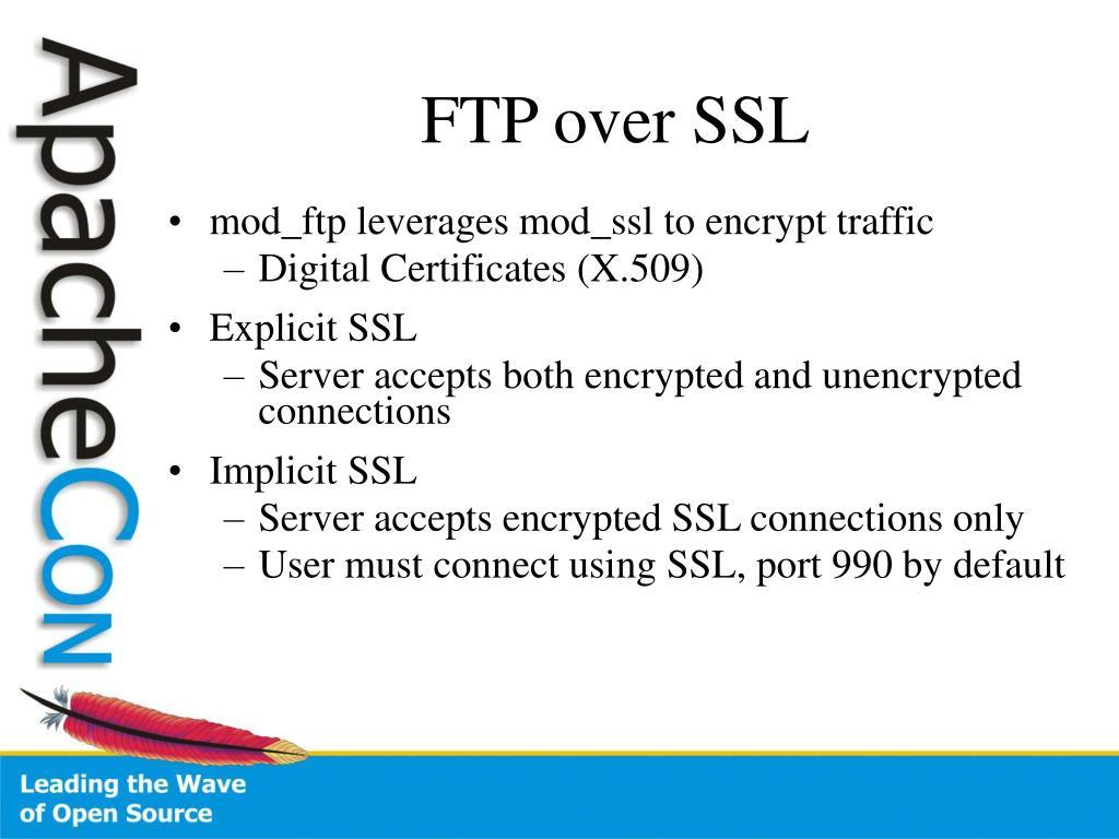 FTP over SSL