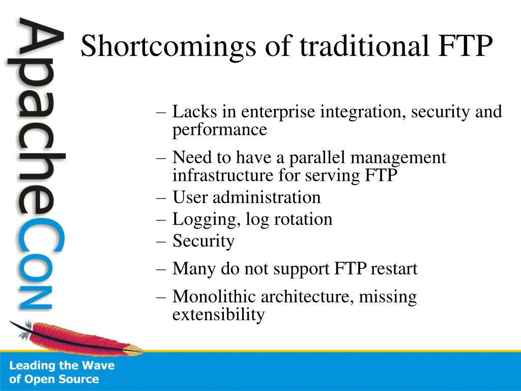 Lacks in enterprise integration, security and performance