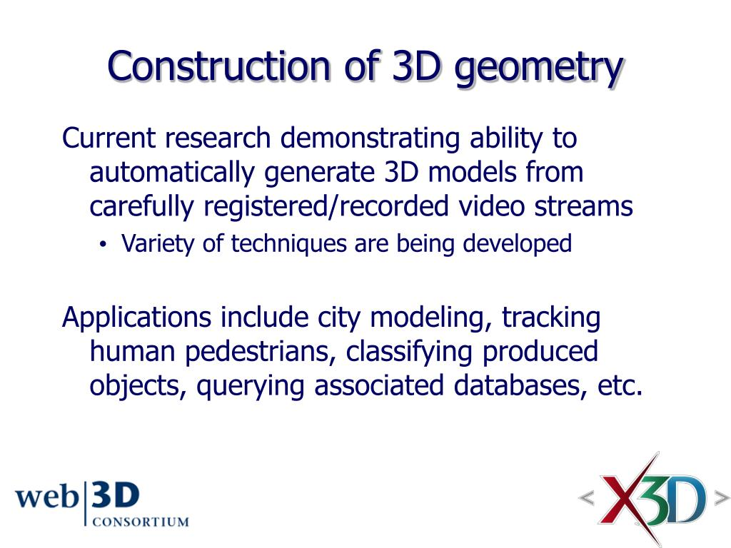 Construction of 3D geometry