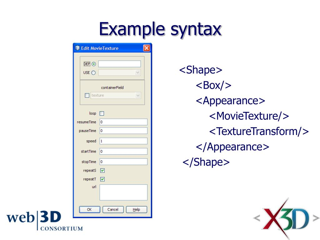 Example syntax
