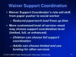 waiver support coordination