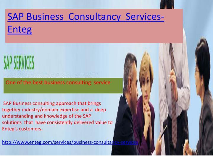 SAP Business  Consultancy  Services-