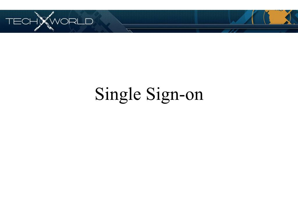single sign on l.
