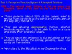 part 3 perceptive reactive system attempted solutions31