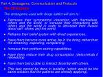 part 4 stratagems communication and protocols
