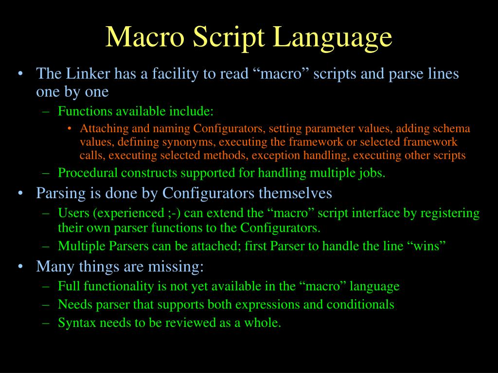 Macro Script Language