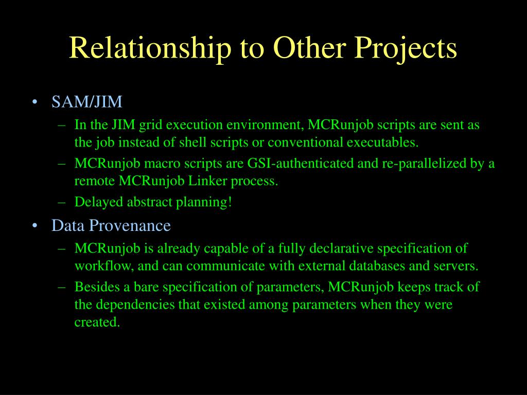 Relationship to Other Projects