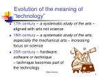 evolution of the meaning of technology