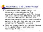 mcluhan the global village