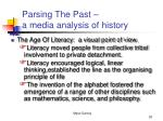 parsing the past a media analysis of history20