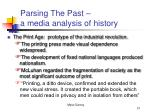 parsing the past a media analysis of history21