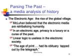 parsing the past a media analysis of history22