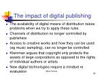 the impact of digital publishing