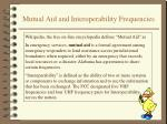 mutual aid and interoperability frequencies