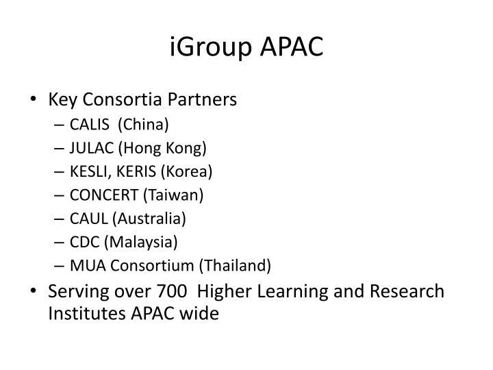 Igroup apac3
