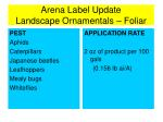 arena label update landscape ornamentals foliar