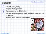 budgets23