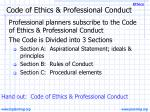 code of ethics professional conduct