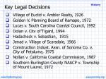 key legal decisions