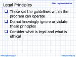 legal principles