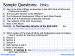 sample questions ethics
