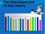 fire calls dispatched 15 year history