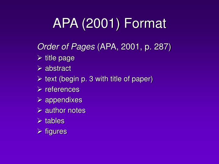 Apa 2001 format2