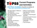 current programs and activities7