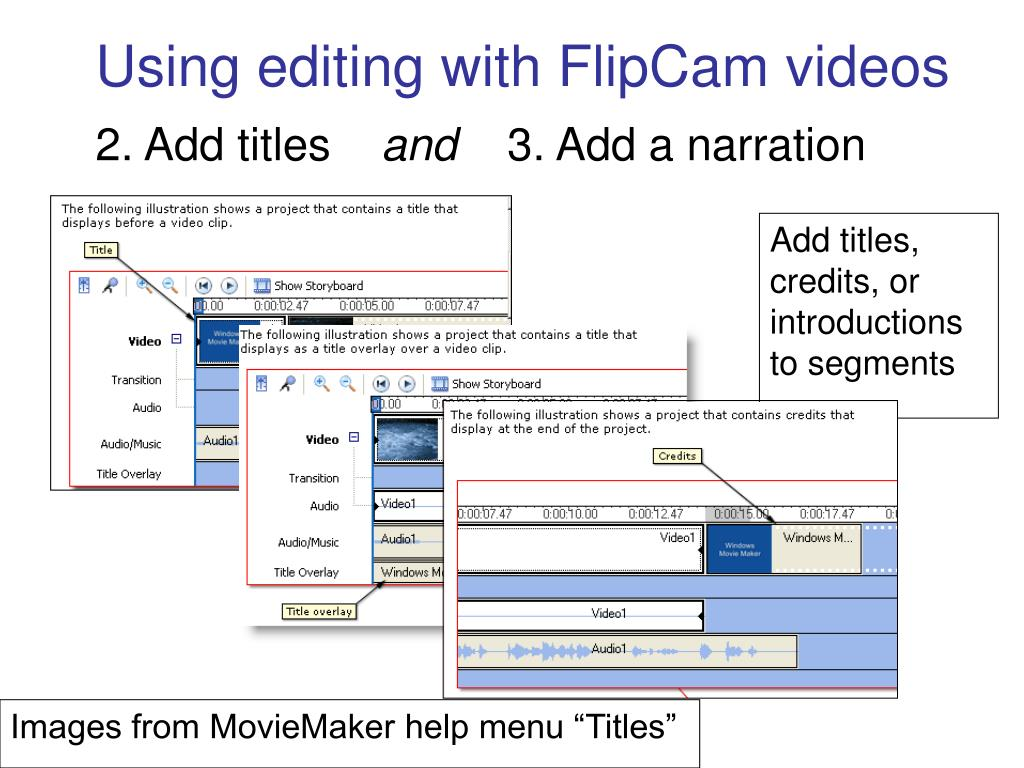 Using editing with FlipCam videos