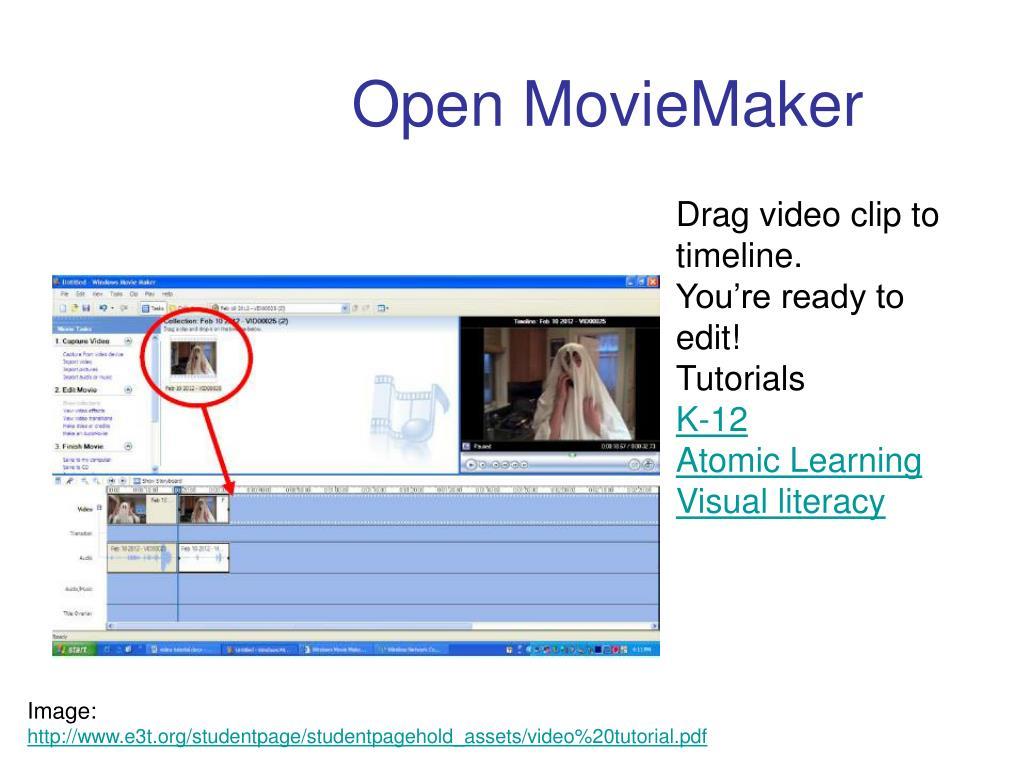 Drag video clip to timeline.